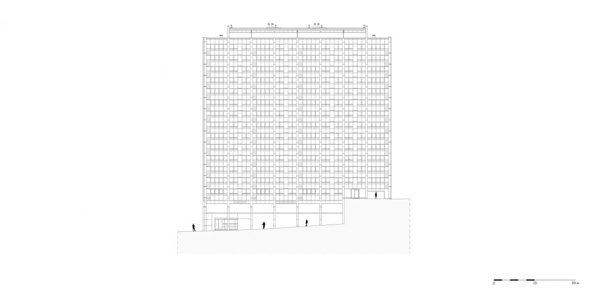 gebouw 4 | oostgevel
