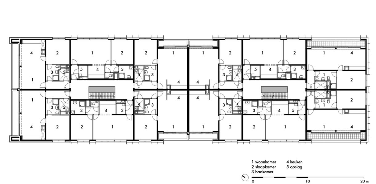 gebouw 17: woonverdieping