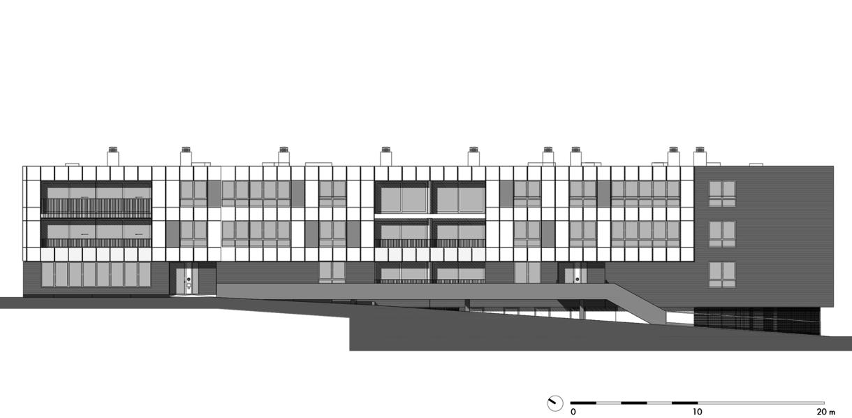 gebouw 17: langsgevel