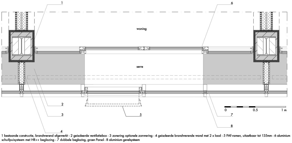 gevelfragment serre A10-zijde (horizontaal)